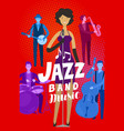 jazz band poster musical festival live music vector image