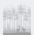 landscape with forest vector image vector image