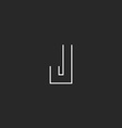 Letter J logo mockup monogram hipster design vector image