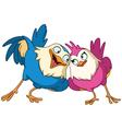 loving birds vector image vector image