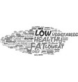 lowfat word cloud concept vector image vector image