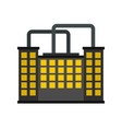 manufacturing factory building icon flat style vector image vector image