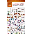 Mega collection of 50 business annual report vector image vector image