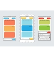Message boxes for messaging on mobile phones vector image