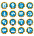 Multimedia internet icons set simple style