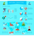 Natural Disasters Infographic Poster vector image