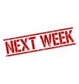 next week stamp vector image vector image