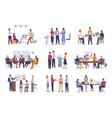 office business meeting teamwork or team building vector image vector image