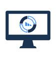 online statistics report icon vector image vector image