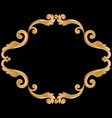ornamental vintage frame for your text in golden vector image vector image