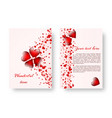 romantic catalog with red hearts vector image vector image