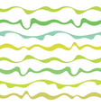 seamless fabric pattern with curve green lines vector image vector image