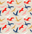 Seamless pattern of flying birds vector image vector image