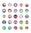 set of real estate flat icons vector image vector image
