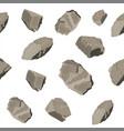 set of rock stone seamless pattern vector image
