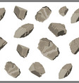 set rock stone seamless pattern vector image