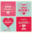 set valentines day card design vector image vector image