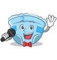 singing baby diaper character cartoon vector image vector image
