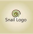 snail logo ideas design vector image vector image