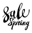 Spring Sale Lettering Typography Design Spring vector image vector image