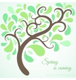 Spring tree branch background vector image