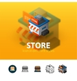 Store icon in different style vector image