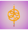 Tangled pencil background vector image vector image