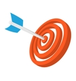 Target with dart cartoon icon vector image