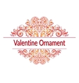 Valentine Holiday Floral Pattern vector image