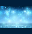 winter snow background with night stars and trees vector image vector image