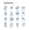 Line Marketing Icons vector image