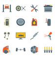 cartoon car service symbol color icons set vector image