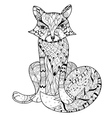 Hand drawn doodle outline fox boho sketch vector image