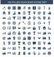 100 success icons vector image vector image
