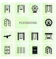 14 playground icons vector image vector image