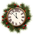 2018 new year round clock vector image vector image