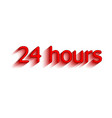 24 hours surround the phrase in the text figure vector image