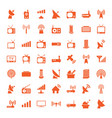 49 antenna icons vector image vector image