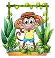 A young and playful monkey vector image