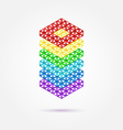 Abstract geometric shape - rainbow icon vector image vector image