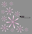 abstract pink flower on gray background design vector image vector image