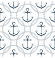 anchor in a frame with a chain seamless nautical vector image vector image