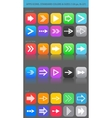 Apps navigation icons set with arrows for UI vector image vector image