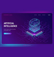 artificial intelligence ai isometric landing page vector image