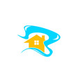 beach house logo design template vector image