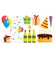 birthday party design elements celebration vector image