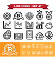 Bitcoin Line icons set 47 vector image vector image