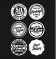 black and white vintage labels collection 5 vector image vector image