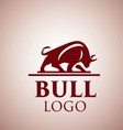 bull logo 4 vector image vector image