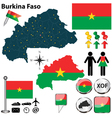 Burkina Faso map vector image vector image